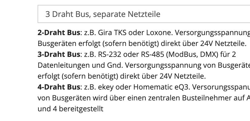 DMX + Modus (und weitere 3-adrige Bussysteme)
